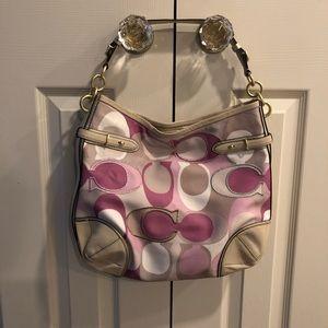 COACH Colette signature hobo shoulder purse bag